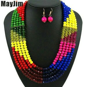 Multi color beads jewelry
